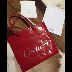 """🎁 CARTIER Paper Bag w/ Extras  8""""x7""""x3""""🎁"""